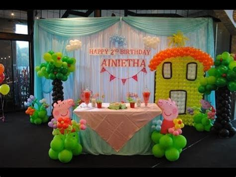Peppa Pig Theme Decorations   Specialised for Balloon