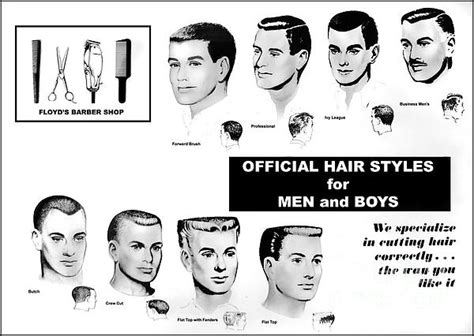vintage barber haircut poster by action
