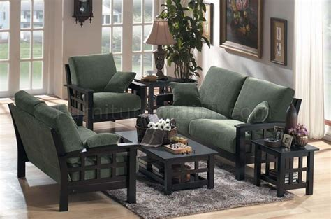 Wooden Living Room Set Contemporary Fabric Living Room Set With Wooden Frame