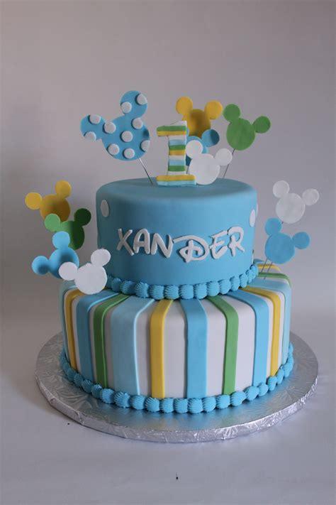 Baby Birthday Cake by Baby Mickey Birthday Cake Lil Miss Cakes