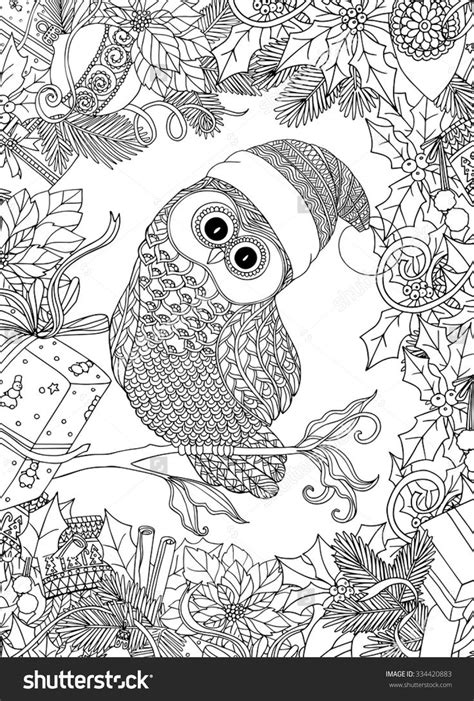 holiday owl coloring page 680 best coloring owls images on pinterest