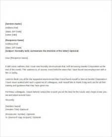 Farewell Resignation Letter by All Resumes 187 Goodbye Letter To Colleagues After