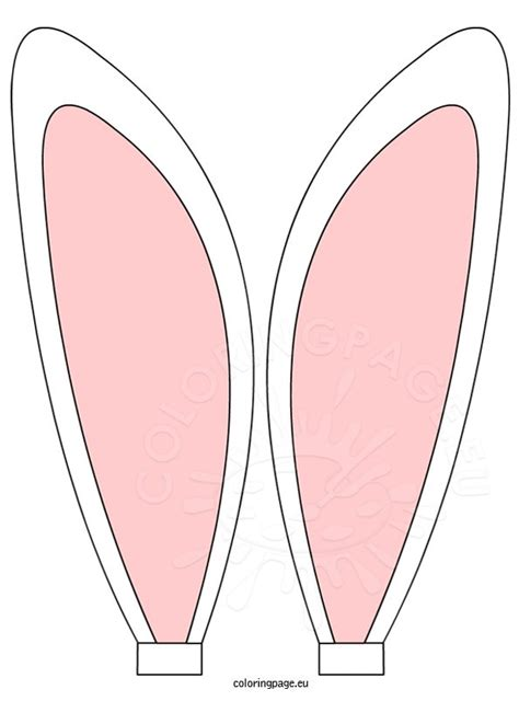 Pen Coloring Pages Wesharepics Bunny Ears Coloring Page
