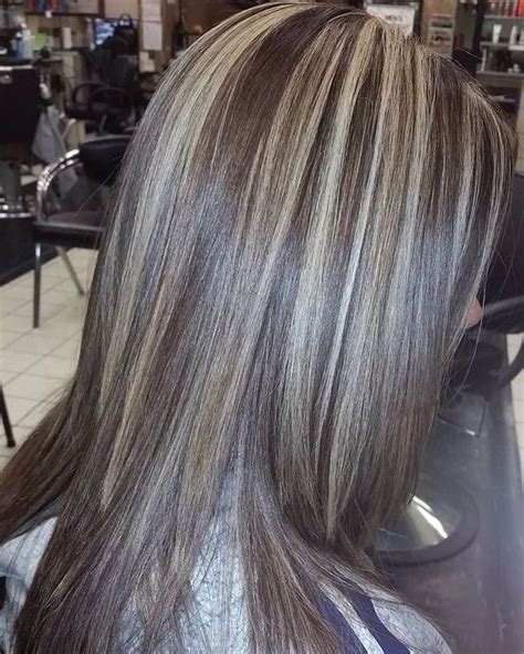 chunking highlights dark hair pictures the 25 best chunky blonde highlights ideas on pinterest