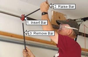 garage door tension bar vertical lift garage door conversion