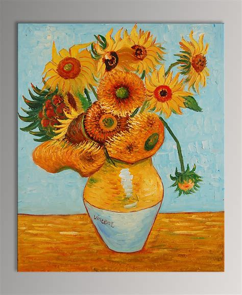 vaso di girasoli quadro vaso con girasoli di gogh falso d autore