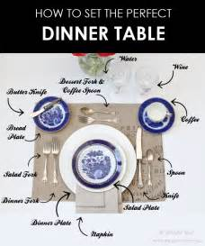 How To Set Up A Table by How To Set A Dinner Table