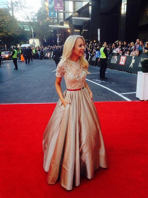 carrie bickmore wardrobe carrie bickmore at 2014 logies in paolo sebastian dress