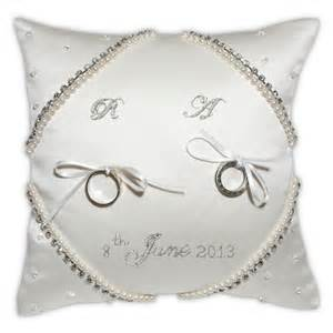 Wedding Ring Cushion by The Most Beautiful Wedding Rings Personalised Wedding