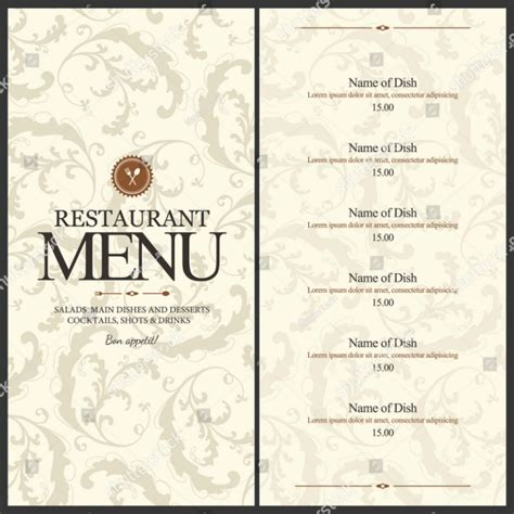 fancy restaurant menu template blank cafe menu template world of printable and chart