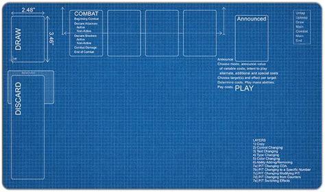 Blueprint Of House Blueprint Playmat Inked Gaming