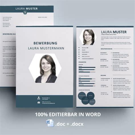 Premium Design Vorlage Kreative Bewerbungsvorlage Lebenslauf Muster
