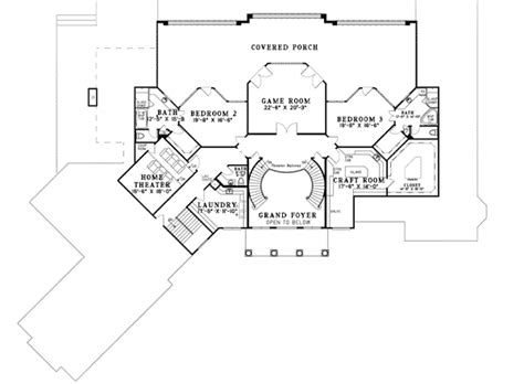 double staircase floor plans double staircase 59954nd architectural designs house