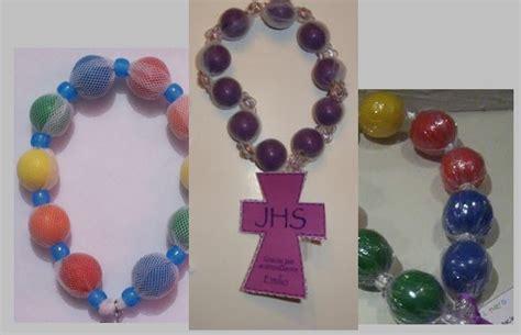 rosarios hechos como manualidades como hacer decenarios de chicle para bautizo imagui