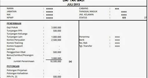 contoh slip gaji orang tua dari rt contoh 193