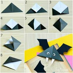 diy bat corner bookmarks halloween crafts easy peasy fun