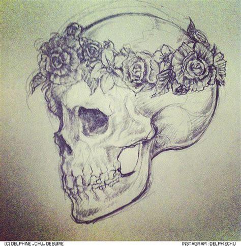 instagram tattoo skull delphine quot chu quot debuire http instagram com delphiechu