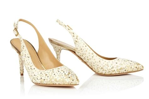 Ivory And Gold Wedding Shoes by Ivory Slingback Wedding Shoes With Gold Sparkles