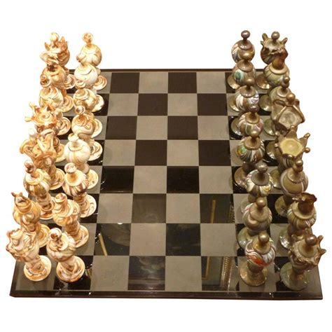 chess sets for sale chess set pieces signed orom for sale at 1stdibs