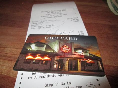 Cheddars Gift Card - love them gift cards picture of cheddar s pleasant prairie tripadvisor