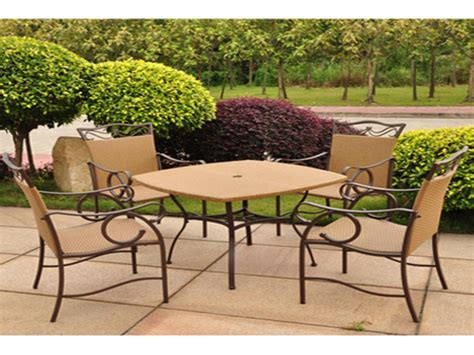 vinyl wicker outdoor furniture resin patio dining set