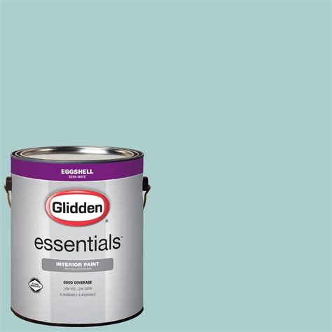 glidden essentials 1 gal hdgb24u evening aqua sky eggshell interior paint hdgb24ue 01en the