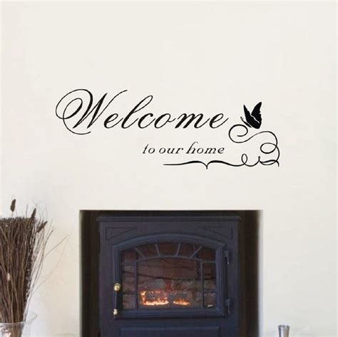 Wall Decals For Dining Room Welcome To Our Home Vinyl Wall Sticker Wall Decal Kitchen Dining Room Ebay