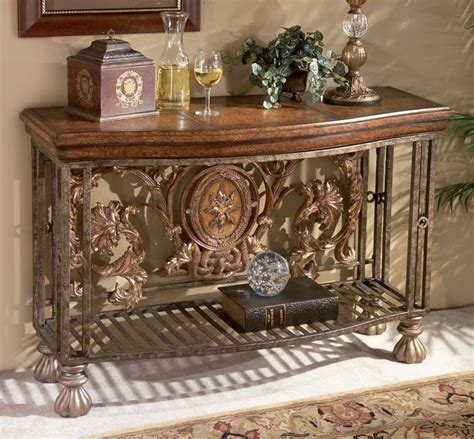 foyer table tuscan style decorating entry foyer tuscan tuscany old world decor iron scroll entry hall