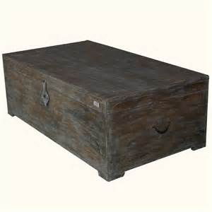 Distressed Wood Trunk Coffee Table Rustic Mango Wood Distressed Storage Coffee Table Chest