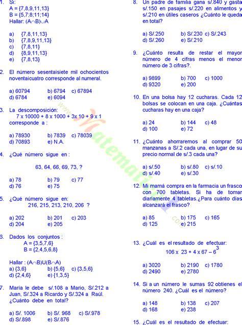 hacer preguntas de matematicas online matem 193 ticas 20 problemas resueltos de cuarto grado de