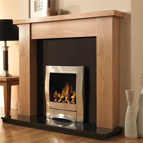 oak gas fireplace pureglow stanford oak finish fireplace suite fireplaces