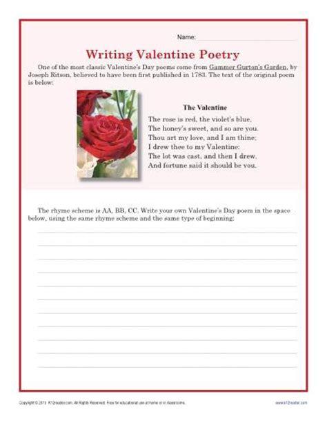 Poetry Worksheets Middle School by Poem Writing Worksheets For Middle School Poem Best Free