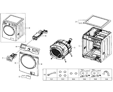 samsung front load washer parts diagram samsung washer parts model wf330anbxaa0002 sears
