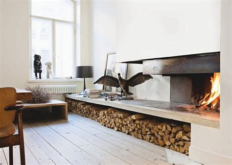fireplace wood stack fireplace
