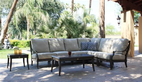 Patio Renaissance Outdoor Furniture by Patio Renaissance Newport Sectional Set Traditional