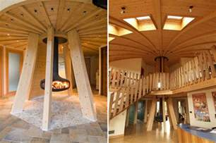 wooden dome house interior iroonie