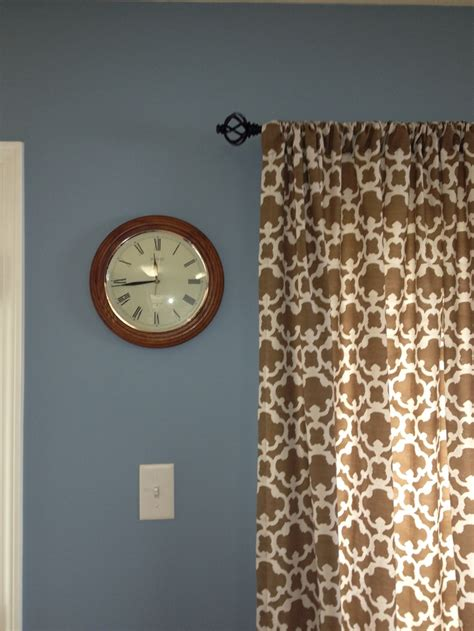 kitchen is painted newport blue by behr and curtains from target it new home stuff