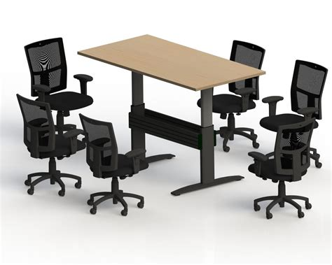 Adjustable Height Conference Table Newheights Rectanglular Height Adjustable Conference Table