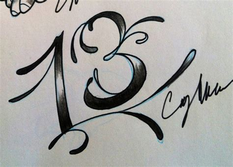 the number 13 tattoo designs number 13 fonts www imgkid the image kid