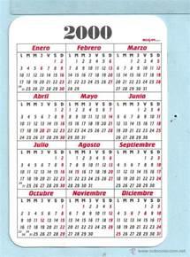 Calendario Ano 2000 Calendario De Publicidad A 241 O 2000 De Indust Comprar