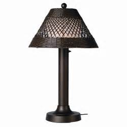Patio Table Lighting Java Outdoor Patio Table L 34 215 3 Inches Walnut Wicker Plc 15257 Outdoorlightsls