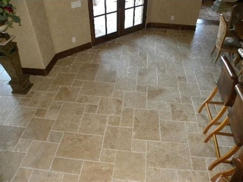 dining room with patterned travertine tile floor versailles tile patterns for floors ivory beige