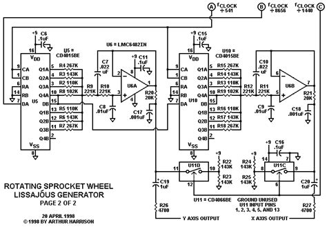 programmable integrated circuit projects s theremin page rotating sprocket wheel lissaj 243 us generator