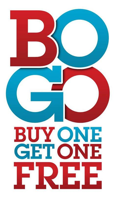 Buy One Get One bogo happy hour buy one get one free at closed s