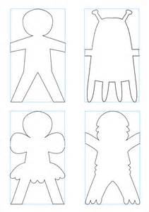how to make a paper doll chain template best photos of paper doll chain pattern paper doll chain