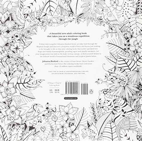 magical jungle an inky magical jungle an inky expedition and coloring book