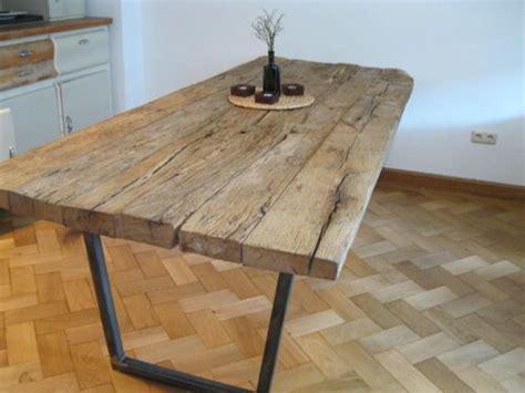 Tisch Aus Dielen by Einzelst 252 Ck Holz Tisch Esstisch Aus Alten Eichenbalken
