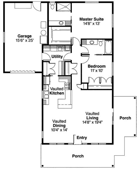 craftsman cottage floor plans bungalow craftsman house plan 69667