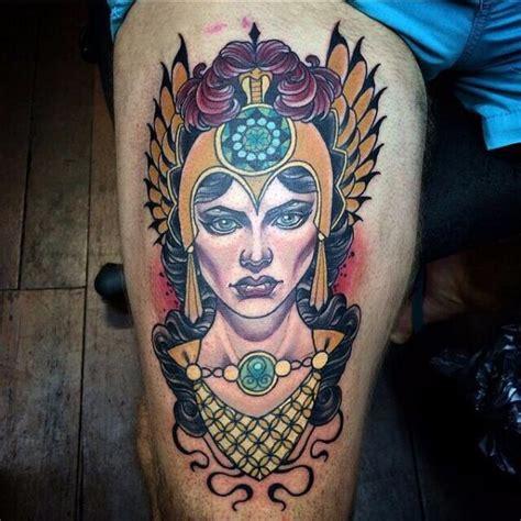 tattoo new school woman tatouage new school cuisse femme par cloak and dagger tattoo