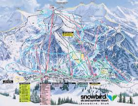 Snowbird Utah Map by Snowbird Trail Map Snowbird Mountain Utah Usa Mappery
